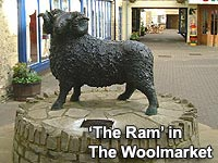 The Ram - A sculpture in The Woolmarket